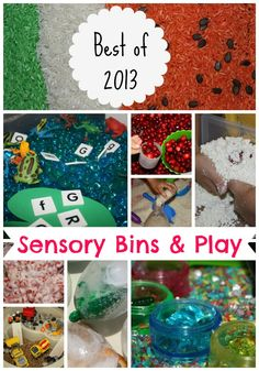 Our best and favorite sensory bins of I hope you will find a fun new sensory bin to try with your child this new year! Sensory Tubs, Sensory Boxes, Sensory Play, Educational Activities For Toddlers, Sensory Activities, Infant Activities, Toddler School, Tot School, Montessori