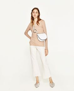 ZARA - WOMAN - JOIN LIFE OVAL CROSSBODY BAG WITH RING DETAIL