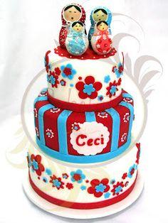 Caketutes Cake Designer: Bolo Matrioska - Matrioska Cake