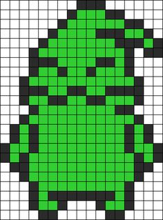 Oogie Boogie from the nightmare before christmas perler beads, maybe make him in glow in the dark? Kandi Patterns, Pearler Bead Patterns, Perler Patterns, Beading Patterns, Stitch Patterns, Nightmare Before Christmas, Pattern Texture, 8bit Art, Perler Bead Templates
