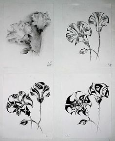 Body Sketches, Art Sketches, Pencil Drawings, Art Drawings, Botanical Line Drawing, Beautiful Drawings, Flower Wallpaper, Art Decor, Art Projects