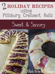 You have got to try these 2 Pillsbury recipes using their crescent rolls.  One is sweet and one is savory- both delicious!
