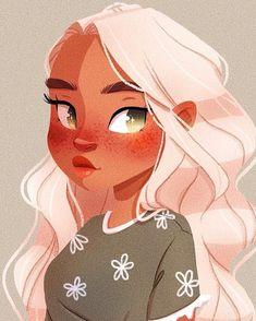 Girl Drawing Sketches, Cute Girl Drawing, Cartoon Girl Drawing, Girl Cartoon, Cartoon Drawings, Cute Drawings, Character Drawing, Character Illustration, Illustration Art