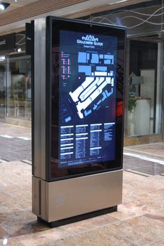 For the busy retail centre, Gloucester Quays we created a touch screen  Live updates are made through RSS feeds and shoppers can check the balance of their loyalty cards.  Great!