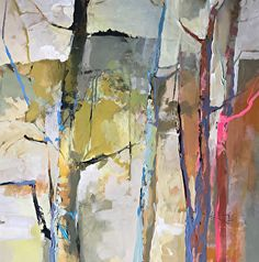 Noticing Intervals-abstract landscape by Joan Fullerton Acrylic ~ 24 x 24