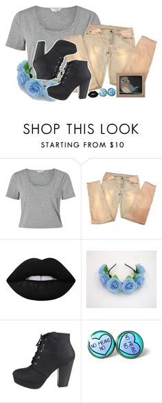 """""""Beatrice ~Over the Garden Wall~"""" by xxxmakeawish ❤ liked on Polyvore featuring Miss Selfridge, 7 For All Mankind, Lime Crime and Bamboo"""