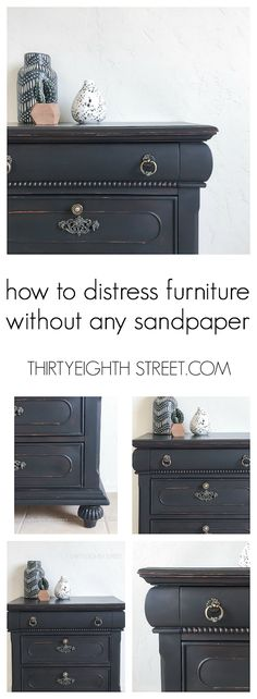 Fool Proof Furniture Distressing Techniques For A Natural Worn Finish Every Time!