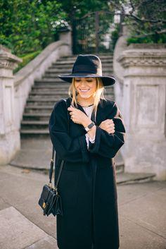 Gal Meets Glam Black Max Mara Coat