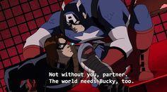 ''The world needs Bucky, too.'' / Captain America & Bucky Barnes