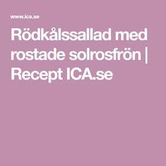 Rödkålssallad med rostade solrosfrön   Recept ICA.se
