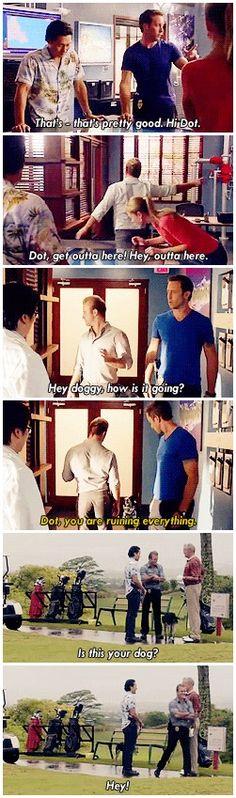 """You wanna be in the movie?"" - Dot following Scott around the set, Hawaii Five-0 season 2 gag reel"