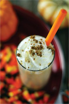 Pumpkin Spice Malted Milk Shake