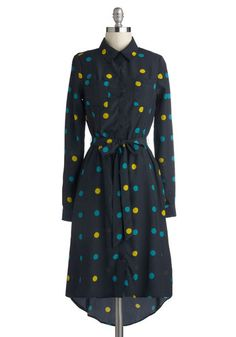 Except for that high-low hemline, this dress is very sweet.   Podcast Producer Dress, #ModCloth