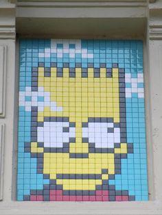 Paris--France--PA-1206-11eme-40pts Arte Post It, Mosaic Art, Mosaics, Street Art, Space Invaders, Computer Lab, Tile Patterns, Urban Art, Perler Beads