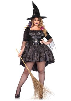 Black Magic Mistress Costume - FOREVER HALLOWEEN Costume Halloween Famille, Witch Costumes, Unique Halloween Costumes, Scary Halloween Costumes, Halloween Couples, Costume Ideas, Family Halloween, Halloween City, Funny Costumes