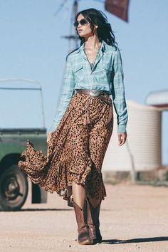 Saphari Kerchief Skirt | Spell & The Gypsy Collective featuring Shanina Shaik
