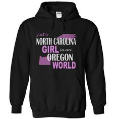 North Carolina girl in Oregon T-Shirts, Hoodies. CHECK PRICE ==► https://www.sunfrog.com/States/North-Carolina-girl-in-Oregon-Black-Hoodie.html?id=41382