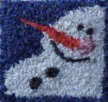 Mini snowman pattern for punch needle embroidery