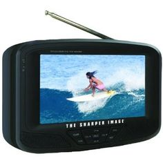 The Sharper Image 7 Portable Lcd Tv With Secure Digital CardTM Slot - Portable & Personal Audio Liquid Crystal Display, Portable Tv, Tv Accessories, Secure Digital, Vintage Tv, Tv Videos, Sd Card, Protective Cases, Audio