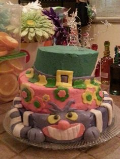 Allice in wonderland cake