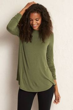 Aerie Legging Tee  by AERIE | Just add leggings! Shop the Aerie Legging Tee  and check out more at AE.com.