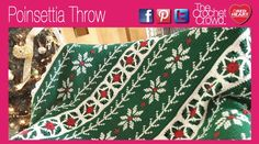 Poinsettia Crochet Cross Stitch Throw + Video Tutorial