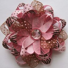 Hip Girl Boutique Free Hair Bow Instructions--Learn how to make hairbows and hair clips, FREE! Diy Hair Bows, Making Hair Bows, Bow Making, Ribbon Crafts, Ribbon Bows, Ribbons, Hair Bow Tutorial, Diy Headband, Headbands