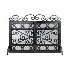 Ornamental Designs Phantom Fireplace Screen Fireplace Tools, Fireplace Screens, Steel Textures, Gate Design, Fireplace Accessories, Indoor Fireplace, Firewood Rack, Fireplace Tool Set, Cleaning Accessories
