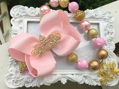 Gold and Pink Birthday Shoes 1st Birthday by SparkleToes3 on Etsy