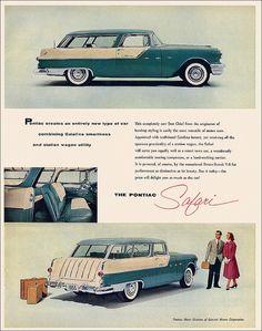 1955 Pontiac Safari Station Wagon LOVE LOOKING AT ADVERTISEMENTS FOR WAGONS