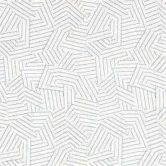 Deconstructed Stripe   176052 in Cobalt   Schumacher Fabric by Miles Redd