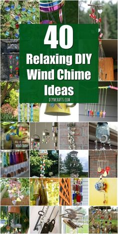 Fun DIY Home Decor Wind chimes. 40 Relaxing Wind Chime Ideas To Fill Your Outdoors With Beautiful Sounds {Unique Ideas with Tutorial Links} Carillons Diy, Fun Diy, Creative Crafts, Diy Crafts, Upcycled Crafts, Preschool Crafts, Do It Yourself Organization, Diy Wind Chimes, Homemade Wind Chimes