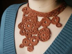Crochet Flower Necklace | ... completion of the Hemp Flowers Necklace « Knit Wit - a knitting blog