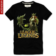 Cool Designs League OF Legends T Shirt LOL zyra New Style2 Black