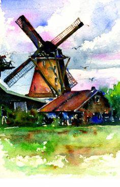 Van Gough Windmill Painting