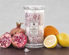 Enjoy the fresh scent of this delightful mixture of zingy citrus and luscious pomegranate. A hidden ring in every scent! Soy Wax Candles, Scented Candles, Classic Candles, Aroma Beads, Jewelry Candles, Luxury Candles, Packaging, Surprise Gifts, Classic Collection