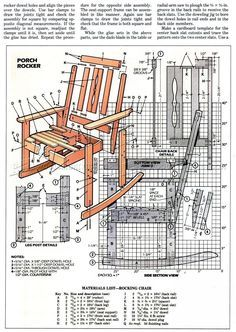 Oak Rocking Chair Plans Gym Ball South Africa Alfortejoselito On Pinterest Solid Furniture