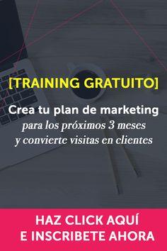 [TRAINING INTENSIVO Y GRATUITO] ¡RESERVA TU PLAZA! Voy a mostrarte cómo crear tu plan de marketing que será tu guía los próximos 3 meses, y te ayudará a convertir visitas en clientes.