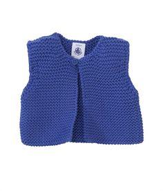 Cardigan sans manches bébé mixte en tricot point mousse Petit Bateau - I can do that!