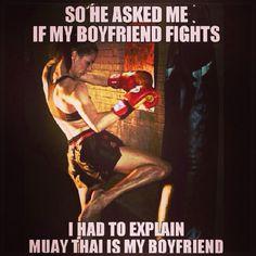 Martial arts humor. Post from Muay Thai America. #muaythai