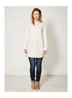 White tencel shirt