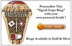 Signal Corps is one of the important communication divisions of any modern army. See details of some beautiful SIGNAL CORPS RINGS available online Army Rings, Night Stand, Dads, Military, Logos, Silver, Gold, Beautiful, Nightstand