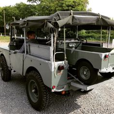 """My Land Rover Series 1 80"""" and my sons Toylander"""