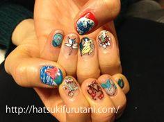 The work of nail art by hatsuki furutani, a Tokyo based manicurist  http://hatsukifurutani.com/   http://instagram.com/hatsukifurutani#  http://ams-ebisu-place.blogspot.jp/  http://hatsukifurutani.tumblr.com/ http://www.pinterest.com/hatsukifurutani/  #nail, #nails, #nailart, #naildesign, #beauty, #makeup, #fashion, #art, #nailaddict, #polish, #manicure, #manicurist, #creepy, #weired, #japan, #ukiyoe, #hokusai
