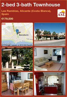 2-bed 3-bath Townhouse in Las Ramblas, Alicante (Costa Blanca), Spain ►€179,500 #PropertyForSaleInSpain