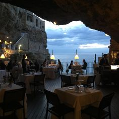 """Ich mag es"": Kommentare: 110 Ristorante Grotta Palazzese ( in Italia. The Places Youll Go, Places To See, Siena Toscana, Beautiful World, Beautiful Places, Romantic Places, Romantic Travel, Places To Travel, Travel Destinations"