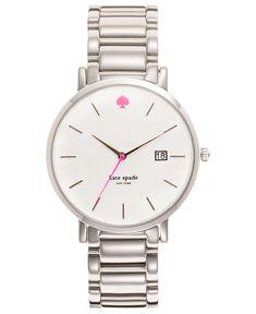kate spade new york Watch, Women's Gramercy Stainless Steel Bracelet 38mm 1YRU0008 - Watches - Jewelry & Watches - Macy's #womenwatches