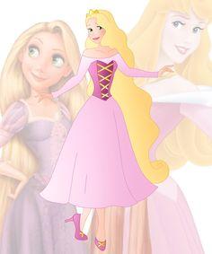 disney fusion: Aurora and Rapunzel by Willemijn1991.deviantart.com on @DeviantArt