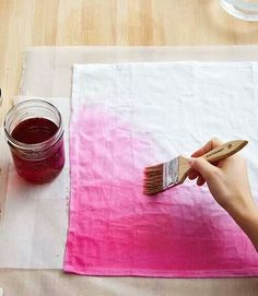 Ombre dyed napkins