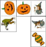 """Dominos - they're puzzle squares that look less intimidating! Just substitute the word itself for one of the pictures, and the kids would have to put a pumpkin picture and """"pumpkin"""" (or a skate and """"skate"""") together. Maybe easier to sell?"""
